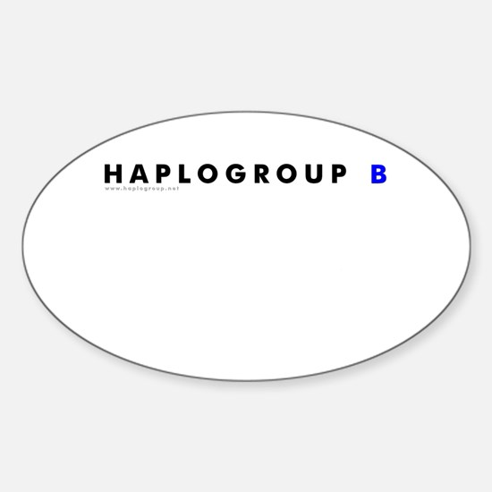 Haplogroup B Oval Decal
