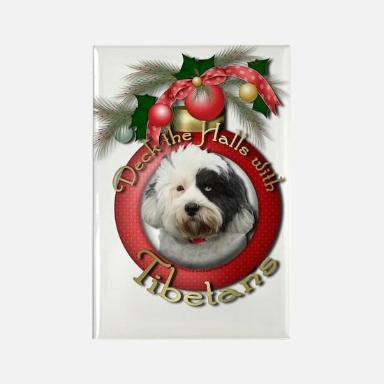 Christmas - Deck the Halls - Tibetans Rectangle Ma