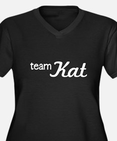 Team Kat Women's Plus Size V-Neck Dark T-Shirt