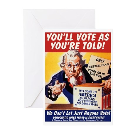 Vote As You're Told Greeting Cards (6)