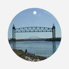 Cape Cod Canal Bridges Ornament (Round)