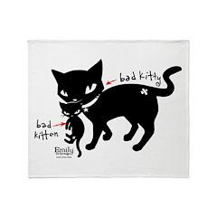 Bad Kitten Throw Blanket