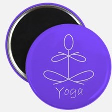 "Yoga in Purple 2.25"" Magnet (10 pack)"