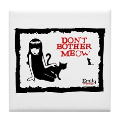 Don't Bother Meow Tile Coaster