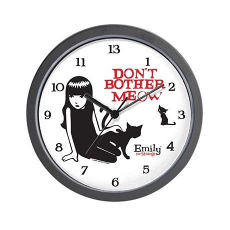 Don't Bother Meow Wall Clock