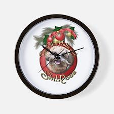 Christmas - Deck the Halls - ShihPoos Wall Clock