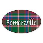 Tartan - Somerville Sticker (Oval 50 pk)