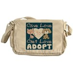 Give Love to Get Love Messenger Bag