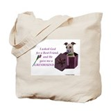 Greyhound tote Canvas Totes