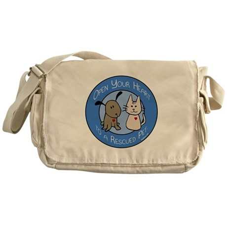 Open Your Heart - Rescued Pet Messenger Bag