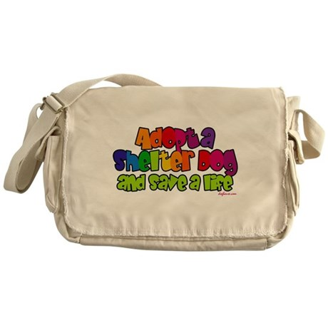 Adopt Shelter Dog Messenger Bag