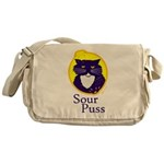 Funny Sour Puss Cat Messenger Bag