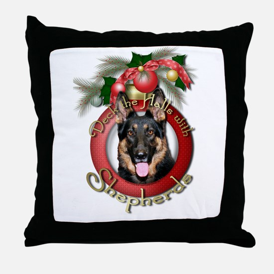 Christmas - Deck the Halls - Shepherds Throw Pillo
