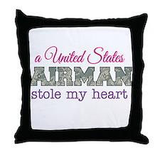 Funny Pink camo Throw Pillow