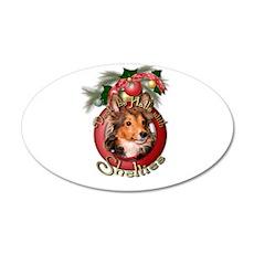 Christmas - Deck the Halls - Shelties 22x14 Oval W