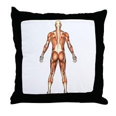 Visible Man Back Throw Pillow