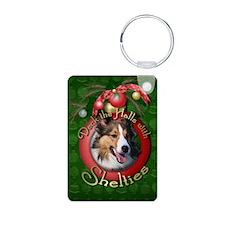 Christmas - Deck the Halls - Shelties Keychains