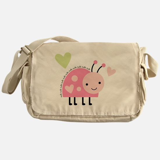 Pink Ladybug Messenger Bag