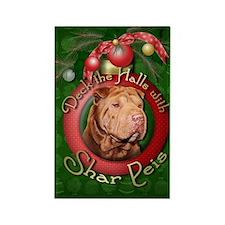 Christmas - Deck the Halls - Shar Peis Rectangle M