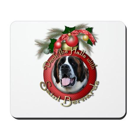 Christmas - Deck the Halls - St Bernards Mousepad