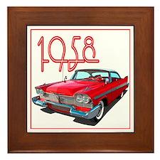Cute Automobiles Framed Tile