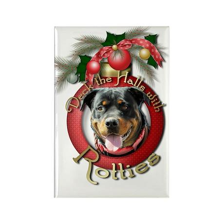 Christmas - Deck the Halls - Rotties Rectangle Mag
