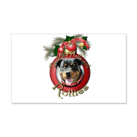 Christmas - Deck the Halls - Rotties 22x14 Wall Pe
