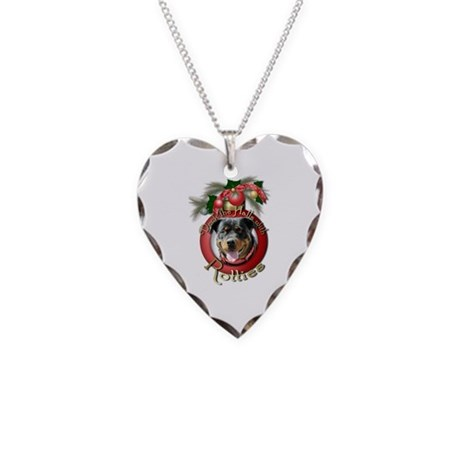 Christmas - Deck the Halls - Rotties Necklace Hear