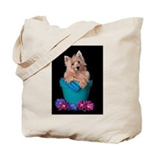 Cairn Terrier Bloom Tote Bag