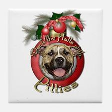 Christmas - Deck the Halls - Pitbull Tile Coaster