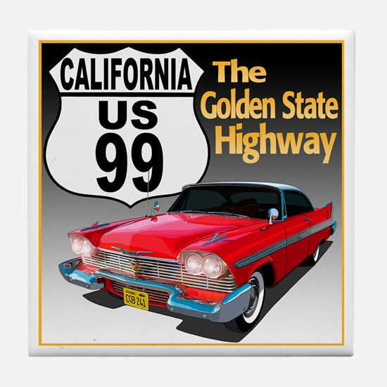 Funny California the golden state Tile Coaster