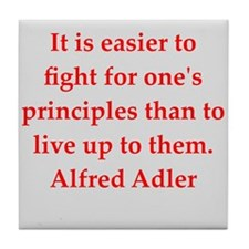 Alfred Adler quotes Tile Coaster