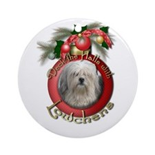 Christmas - Deck the Halls - Lowchens Ornament (Ro