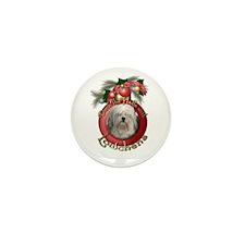 Christmas - Deck the Halls - Lowchens Mini Button