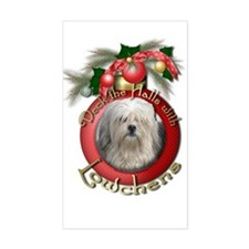 Christmas - Deck the Halls - Lowchens Decal