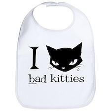 I Heart Bad Kitties Bib