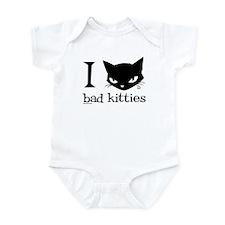 I Heart Bad Kitties Onesie