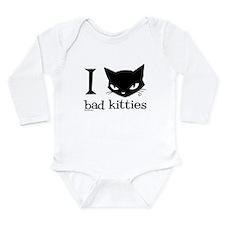I Heart Bad Kitties Long Sleeve Infant Bodysuit