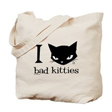I Heart Bad Kitties Tote Bag