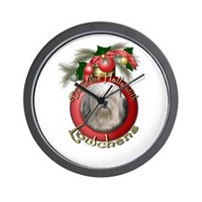Christmas - Deck the Halls - Lowchens Wall Clock