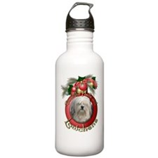 Christmas - Deck the Halls - Lowchens Water Bottle