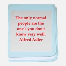 Alfred Adler quotes baby blanket