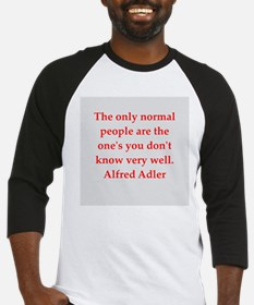 Alfred Adler quotes Baseball Jersey