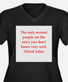 Alfred Adler quotes Women's Plus Size V-Neck Dark