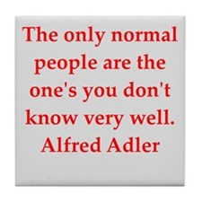 Alfred Adler quotes Tile Coaster