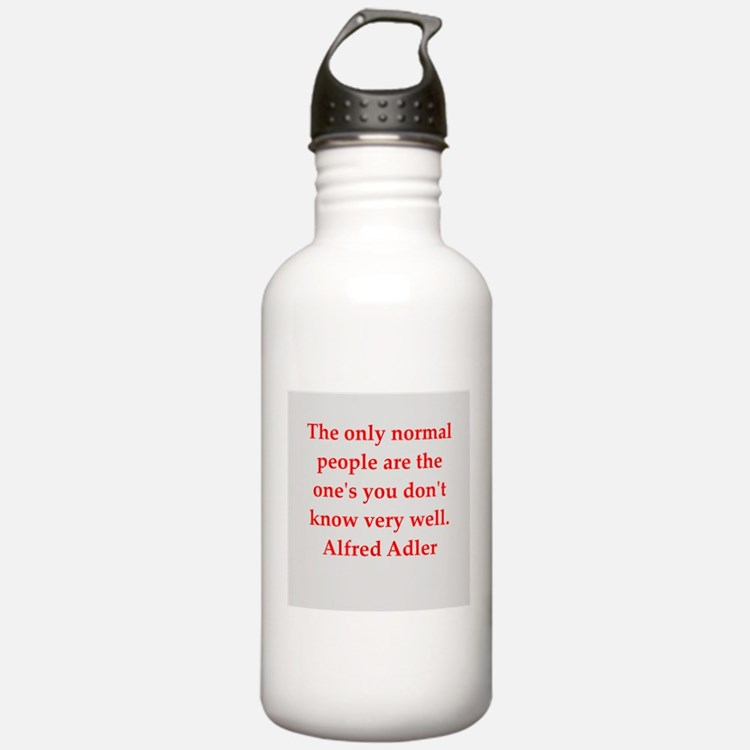 Alfred Adler quotes Water Bottle