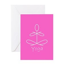 Yoga in Pink Greeting Card