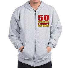 Grumpy 50th Birthday Zip Hoodie