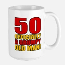 Grumpy 50th Birthday Large Mug