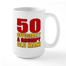 Grumpy 50th Birthday Mug